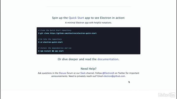 Next steps: Electron: Building Cross Platform Desktop Apps