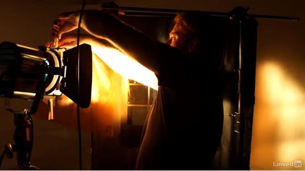 Using a pattern backdrop: Video Gear: Lighting