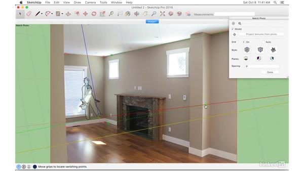 Matching a photo: SketchUp: Modeling from Photos
