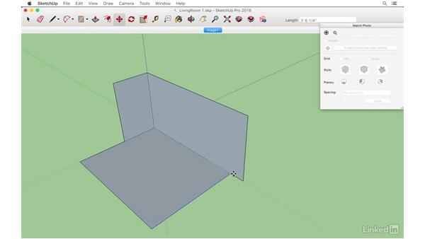 Modeling the floor and walls to match: SketchUp: Modeling from Photos