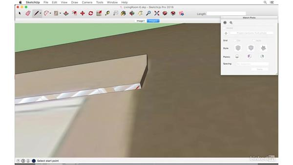 Making a door and transom window: SketchUp: Modeling from Photos