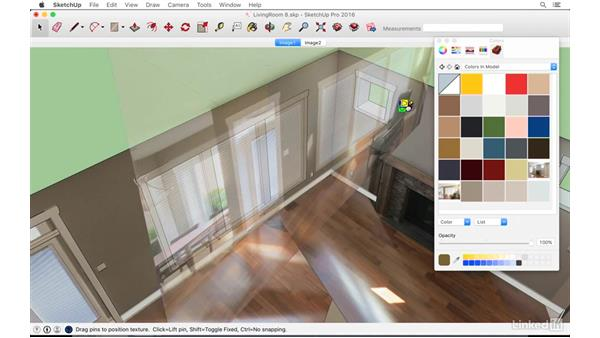 Positioning textures in SketchUp: SketchUp: Modeling from Photos