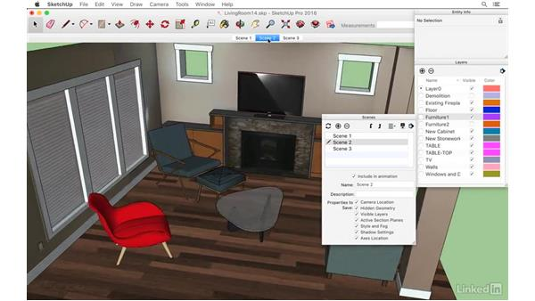 Exploring different scenarios with scenes: SketchUp: Modeling from Photos