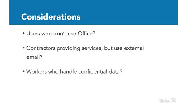 Identify workloads that don't require migration: Office 365: Provision Office 365