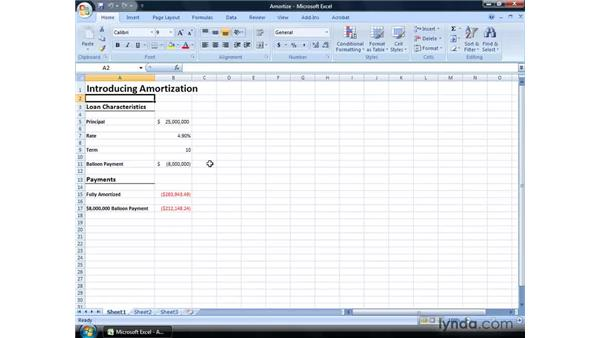 Introducing amortization: Excel 2007: Financial Analysis