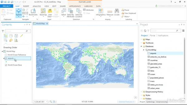 Add data to the map: ArcGIS Pro Essential Training