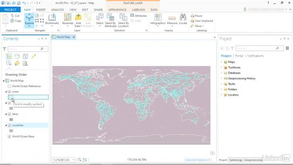 Work with layers: ArcGIS Pro Essential Training