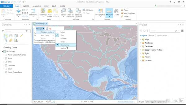 Configure project properties: ArcGIS Pro Essential Training