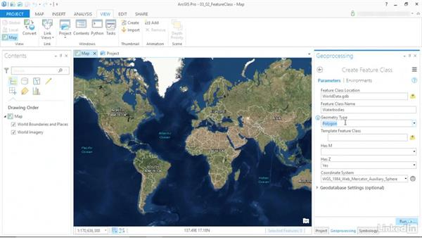 Create a feature class: ArcGIS Pro Essential Training
