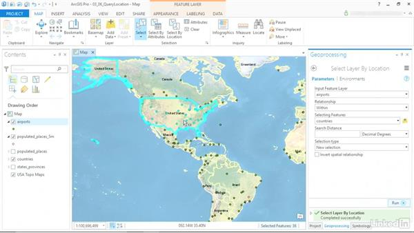 Query and extract features by location: ArcGIS Pro Essential Training