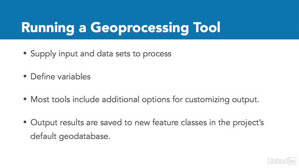 What is geoprocessing?: ArcGIS Pro Essential Training