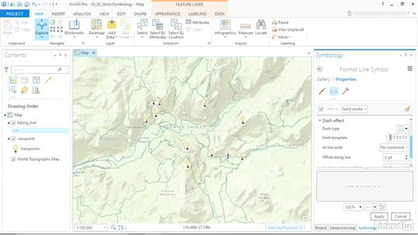 Vector symbology: ArcGIS Pro Essential Training