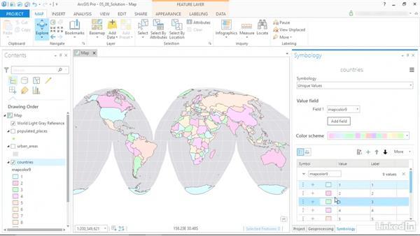 Solution: Design a legible map: ArcGIS Pro Essential Training
