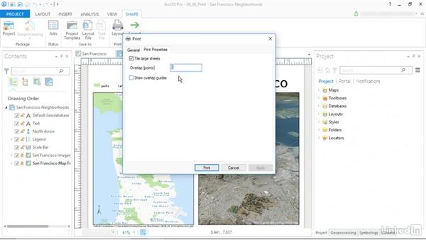 Print a map: ArcGIS Pro Essential Training