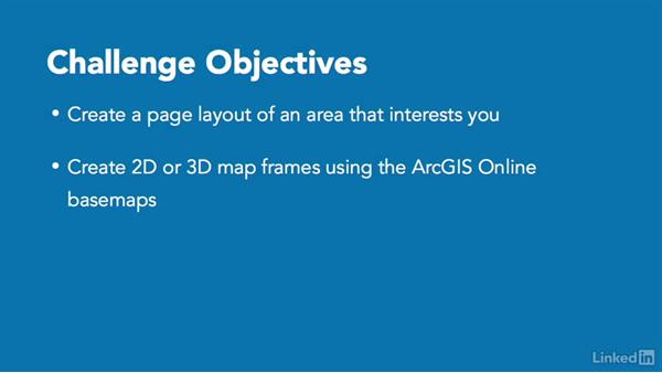 Challenge: Create a map layout: ArcGIS Pro Essential Training