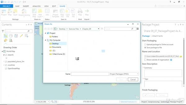 Package your project: ArcGIS Pro Essential Training