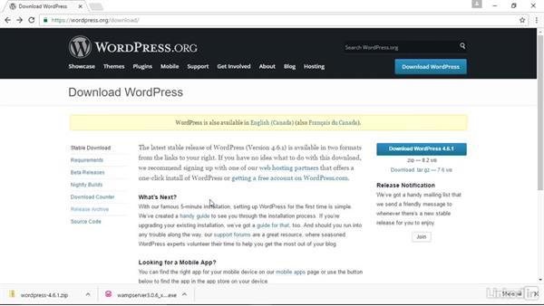 How to get WordPress: Installing and Running WordPress: WAMP