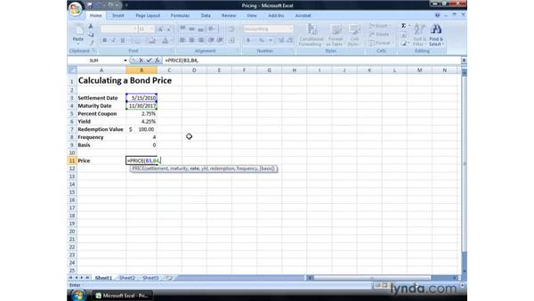 Pricing bonds to be offered to investors: Excel 2007: Financial Analysis