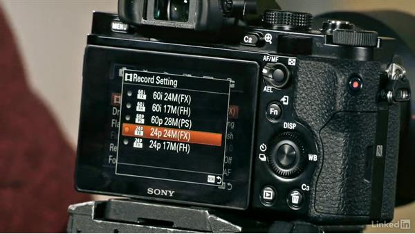 Menu options of the Sony Alpha a7: Video Gear: Cameras & Lenses