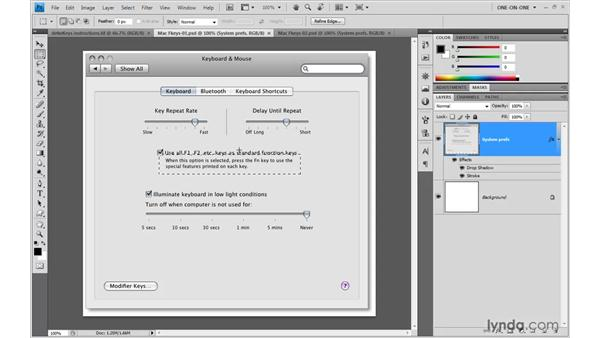 Resetting the function keys on a Mac: Illustrator CS4 One-on-One: Mastery