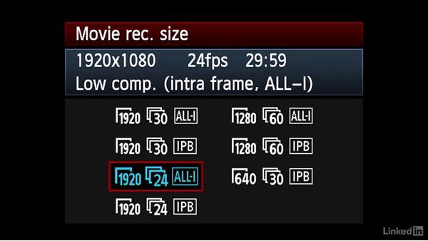 Shooting menu options: Video Gear: Cameras & Lenses