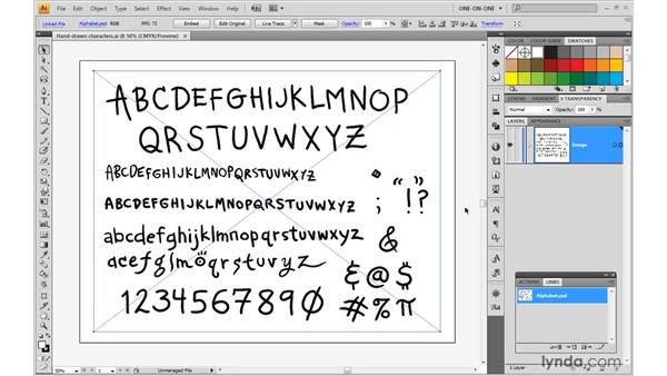 Tracing an imported image: Illustrator CS4 One-on-One: Mastery