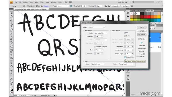 Using the Ignore White option: Illustrator CS4 One-on-One: Mastery