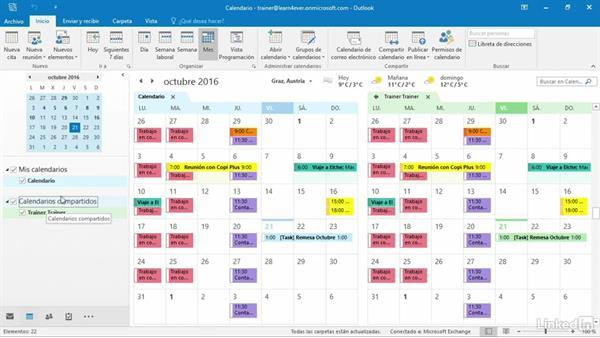 Calendario Outlook.Calendarios Compartidos En Outlook 2016