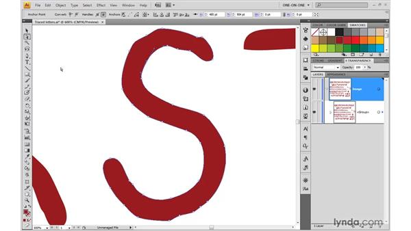 Expanding and editing traced artwork: Illustrator CS4 One-on-One: Mastery