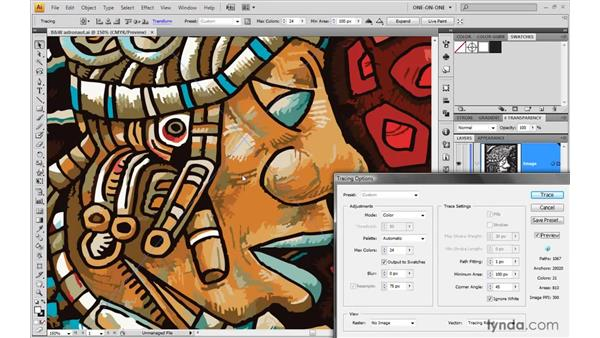 Tracing full-color artwork: Illustrator CS4 One-on-One: Mastery