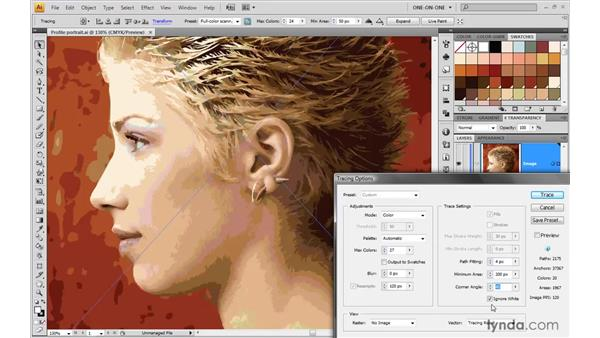 Tracing portrait photography: Illustrator CS4 One-on-One: Mastery