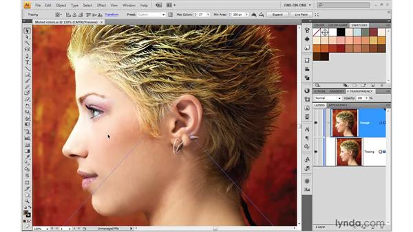 Preparing a Live Trace color palette: Illustrator CS4 One-on-One: Mastery
