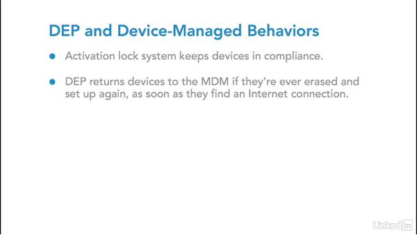 Manage device behaviors: Foundations of Mobile Device Management