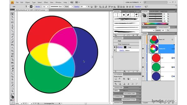 Creating interactions with blend modes: Illustrator CS4 One-on-One: Mastery