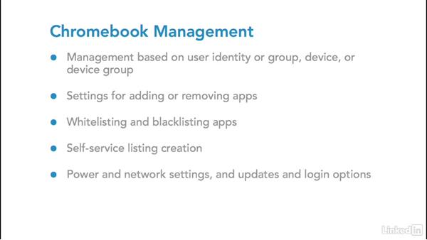 Chromebook management: Foundations of Mobile Device Management