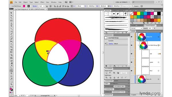 Stroking with the Live Paint bucket: Illustrator CS4 One-on-One: Mastery