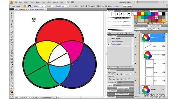 Adding a path to a Live Paint group: Illustrator CS4 One-on-One: Mastery