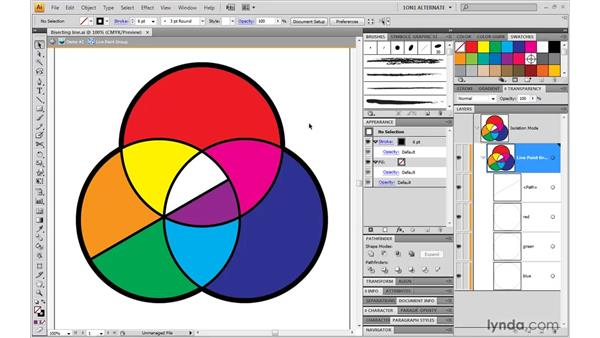 Drawing inside a Live Paint group: Illustrator CS4 One-on-One: Mastery