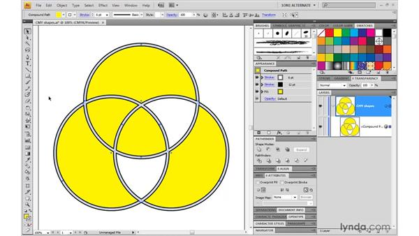 Combining Live Paint with a dynamic effect: Illustrator CS4 One-on-One: Mastery