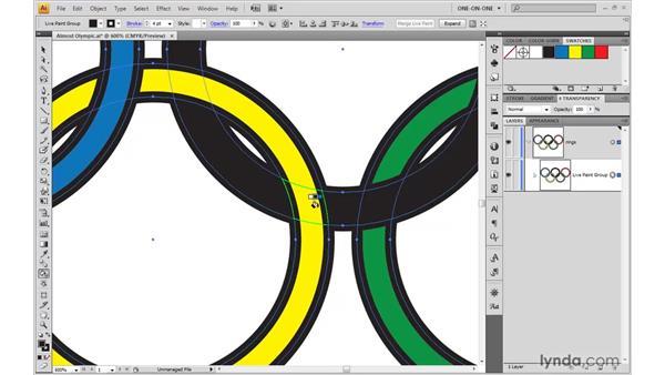 Simulating interlocking objects: Illustrator CS4 One-on-One: Mastery