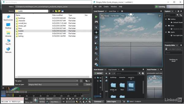 Connecting to 3ds Max via Live Link: Learn Autodesk Stingray