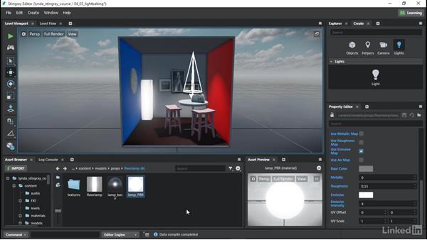 Light baking: Learn Autodesk Stingray