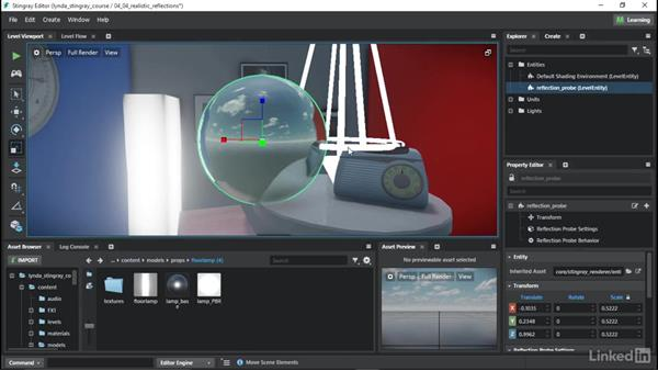 Implementing realistic reflections: Learn Autodesk Stingray