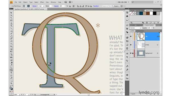 Addressing differently colored strokes: Illustrator CS4 One-on-One: Mastery