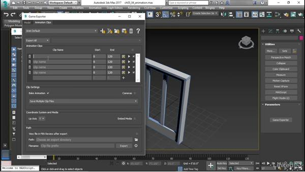 Preparing animation in 3ds Max: Learn Autodesk Stingray