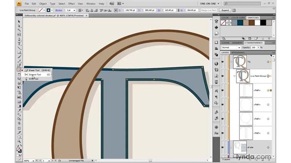 Repairing improperly overlapping strokes: Illustrator CS4 One-on-One: Mastery