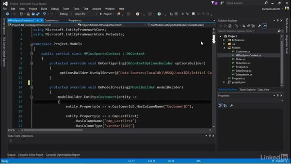 Understanding the generated context: Accessing Existing Databases with Entity Framework Core