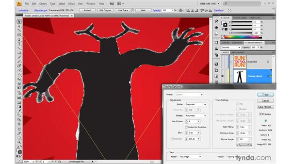 Tracing a translucent image: Illustrator CS4 One-on-One: Mastery