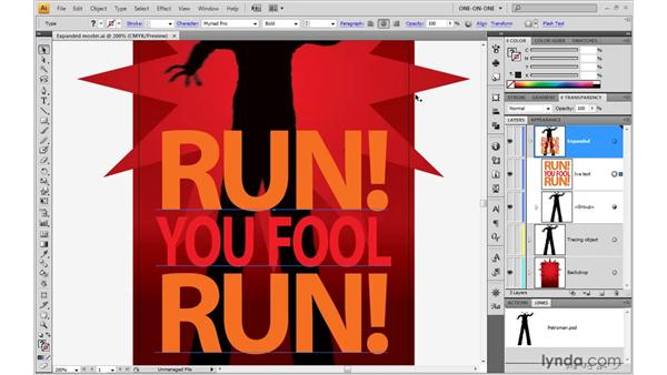 Live Type and dynamic effects: Illustrator CS4 One-on-One: Mastery