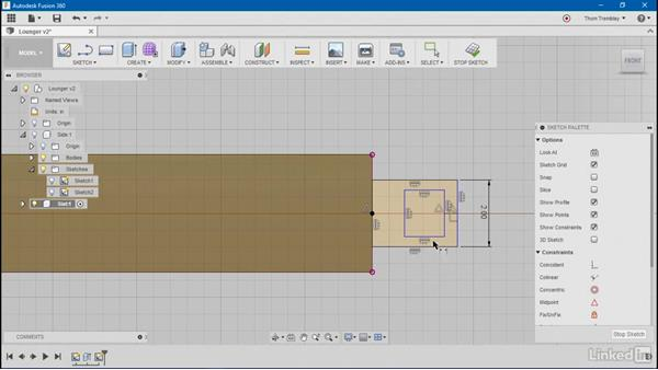 Using Mirror and parameters: Autodesk Fusion 360: Designing for Wood